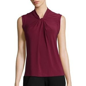 NEW Tommy Hilfiger Knot Neck Sleeveless Blouse Top